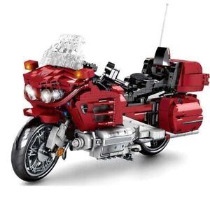 Motorcycle Car Classic Speed Bricks Motorbike Model Blocks Toy Building Technic