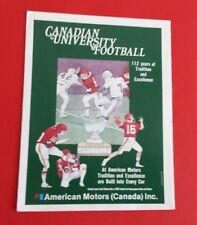 1986 Canadian University CIAU/CIS/Usports Football Schedule
