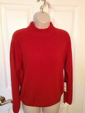 STUDIO WORKS Ruby Red Sweater Top. Size Petites Small. NEW.