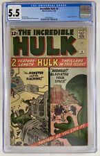 Incredible HULK #4 (1962) , Kirby and Stan Lee, just graded, CGC 5.5