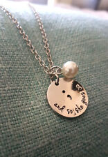 """Zinc Alloy Semicolon """"and she goes on"""" Mental Health Awareness Necklace"""