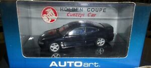 NEW-HOLDEN COUPE CONCEPT DIECAST CAR BY AUTOART-SCALE:1:43- METALLIC BLUE/BLACK