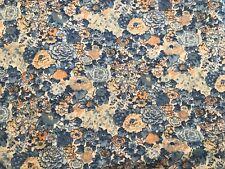 """Vintage Blue Flesh Hydrangea Cotton Blend Quilt Dress Fabric Fat Quarter 18""""x 22"""