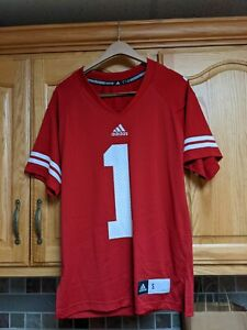 Wisconsin Badgers Official NCAA Adidas Men's Small Football Jersey NWOT