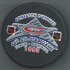 1993 All-Star Game Montreal Souvenir Hockey Puck & Commemorative Magazine