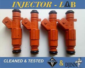 ALFA ROMEO 145 146 147 156 166 GTV injectors 0280155769 set of 4 CLEANED&TESTED
