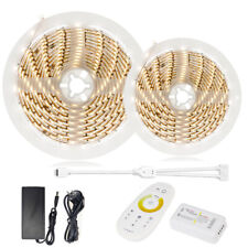 10M 5050SMD CCT Dual White Led Strip Light Dimmable+RF Control with Touch Remote