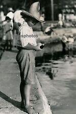 TAHITI c. 1940 - Enfant au Chapeau Ph. Nordmann - T44