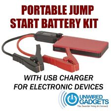 NEW Portable Jump Start Battery Kit 12v USB CHARGER KIT LED USB Mobile Charger