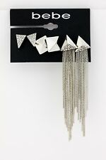 BEBE ear rings silver stud 3 pairs earrings 222401