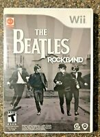 The Beatles: Rock Band  (Nintendo Wii Game) Complete w/ Manual - Clean & Tested