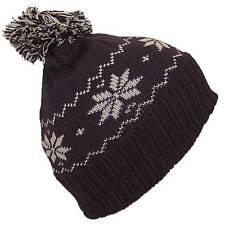 Angela & Williams Little Kids Cuffed Snowflake Pom Pom Beanie, Hat, #293 Brown