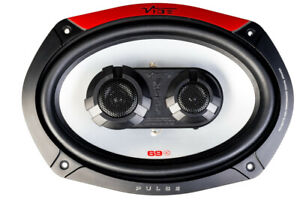 "VIBE CAR AUDIO PULSE 600W 6X9"" 69-V4 TRI-COAXIAL SHELF DOOR SPEAKERS OVAL PAIR"