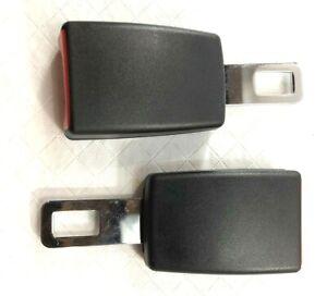 Car Seat Seatbelt Adjustable Safety Belt Extender Extension Buckle Black (2)