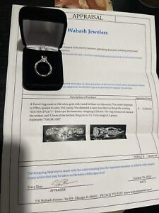 Tacori classic crescent 1.24 round diamond engagement ring 18k
