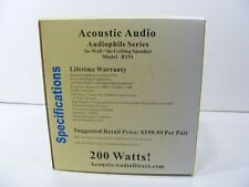 Acoustic Audio R-191 Ceiling/ Wall Speaker Pair 2 Way Home Theater Surround NOS
