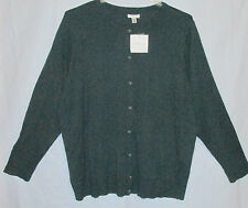 Croft & Barrow Women's 3X Mythical Forest Green Cardigan Sweater New with Tags