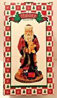 "Holiday Collection Santa Claus figurine w/ Bear 10"" tall Christmas figure Decor"