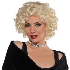 Ladies Roaring 20s Gatsby Roxy Daisy Flapper Blonde Wig Fancy Dress Accessory