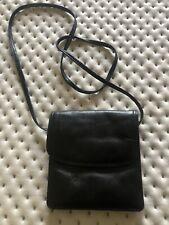 Small Black Leather Cross Body Bag