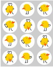 Cupcake Toppers Easter Chick Pre-cut Edible Rice Paper Decoration 40mm x 12