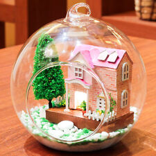 DIY Handcraft Miniature Project Kit My Pink Sweetheart Villa Wooden Dolls House