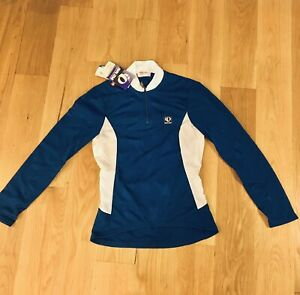 NWT Women's PEARL IZUMI Double Take Tech Wear, Long Sleeve Cycling Shirt Size 10