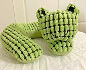 EDDIE BAUER GOLDBUG AURORA GREEN CAT KITTEN COMFORT NECK SUPPORT RING SOFT! ~ E6