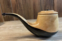 "Pipe Shaped Tobacco Jar With Space To Rest Pipe ""GUS"""