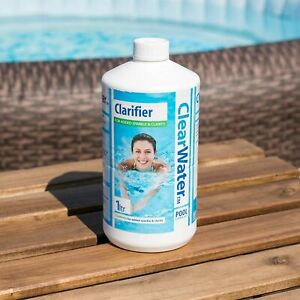 CLEAR WATER 1L Water Clarifier Hot Tub Lay-Z Spa Swimming Pool Chemicals CH0009