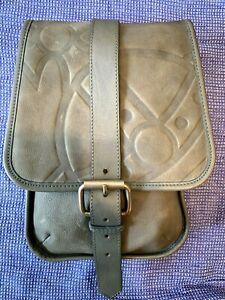 Vivienne Westwood Distressed Grey Messenger Leather Saddle Bag Satchel (B48875