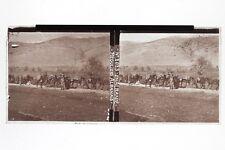 Albania FranciaGrande Guerre 1914-18 WW1 Foto N3 Placca Stereo6x13cm Vintage