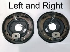 """Pair of Trailer Backing Plate Brakes Electric 12"""" Self Adjust 7000 Left Right"""