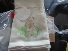 Pottery Barn Hilltop  Easter  napkins Set of 8 New