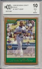 2006 Bowman Draft Gold Matt Kemp RC Rookie BGS/BCCG 10 Los Angeles Dodgers