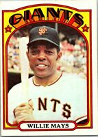 WILLIE MAYS 1972 TOPPS #49 EX OR BETTER --COMPLETE SET BREAK (25% OFF)