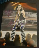 AMANDA OVERMYER SIGNED 8X10 PHOTO AMERICAN IDOL W/COA+PROOF RARE WOW