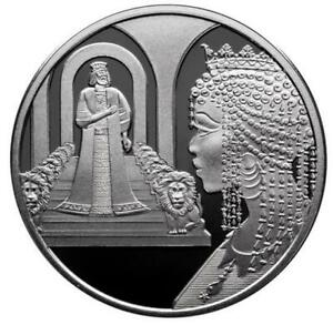 ISRAEL COIN & MEDAL 2021 KING SOLOMON AND THE QUEEN OF SHEBA PROOF LIKE SILVER