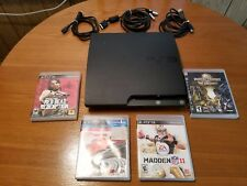 Sony Play Station 3 Console, 4 games and 3 cables Only Works Great