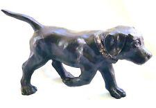 "BRONZE DOG LAB PUPPY ON THE HUNT RUN MOVE POINT SCULPTURE STATUE 10"" DOG ARTIST"