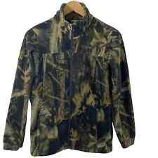 Columbia Youth Boys Camouflage Full Zip Fleece Jacket Sz L 14-16