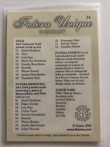 Futera Unique - CHECK LIST Trading Card (MINT) - 2005 Football