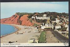 Devon Postcard - The Beach, Budleigh Salterton    RT360