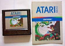 1982 Centipede for The Atari 5200 Video Game Cartridge & Booklet
