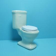 Dollhouse Miniature Bathroom Porcelain White Toilet ~ CLA10552