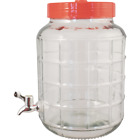 Wide Mouth Glass Carboy with Spigot - 2.3 gal - Cary Strap Included - Easy Clean
