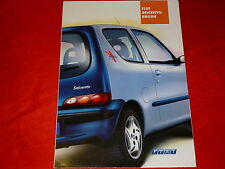"FIAT Seicento ""Brush"" Sondermodell Prospekt von 2001"