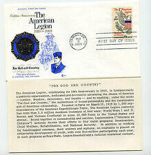 1369 American Legion Cover Craft Cachets, CCC, FDC