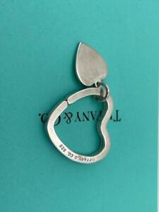 Tiffany & Co Sterling 925 Double Heart  Key Ring Holder