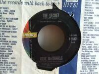 "GENE  McDANIELS      7""  VINYL  SINGLE ,  TOWER OF STRENGH / THE  SECRET"